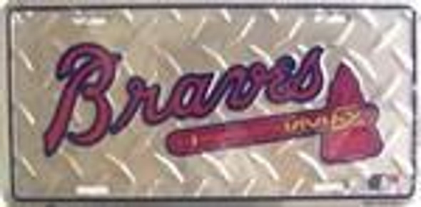 Atlanta Braves Diamond MLB License Plate