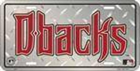 AZ Diamondbacks Diamond MLB License Plate