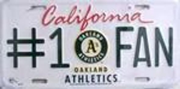 Athletics #1 Fan MLB License Plate