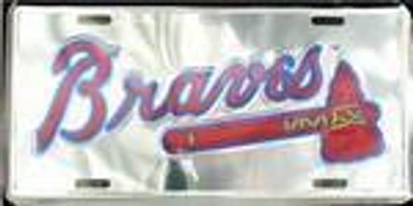 Atlanta Braves MLB Chrome License Plate