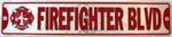Fire Fighter Firefighter Blvd Street Sign