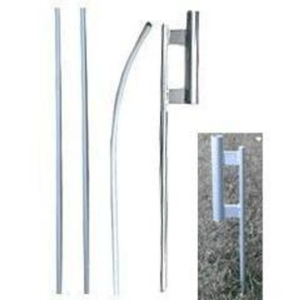 16 ft. Feather Flag Pole with Ground Spike Kit