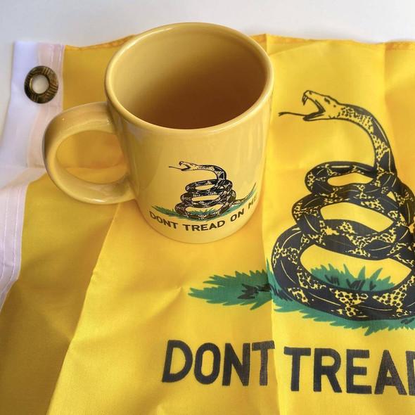 Gadsden Coffee Mug with 12x18 inch flag