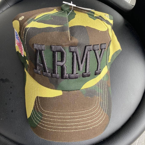 Army Cap Camo with Army Letters