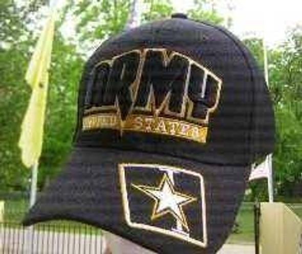 Army Emblem United States Black Cap