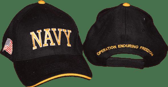 Black U.S. Navy Cap