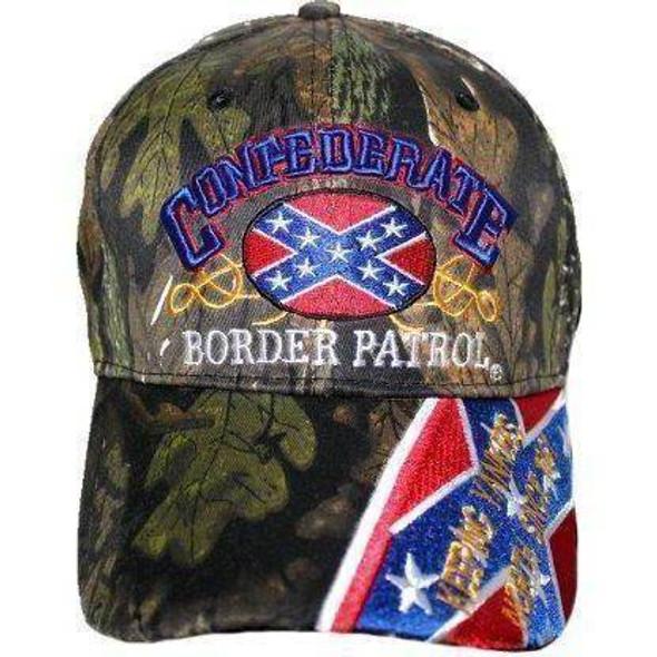 Confederate Border Patrol Camo Cap - Hat