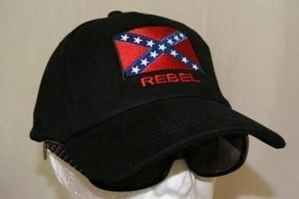 Black Patch Rebel Cap