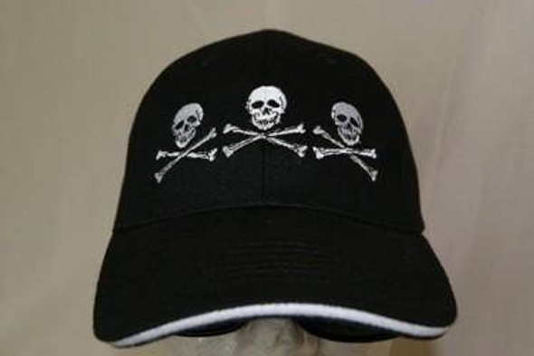 3 Skull Pirate Cap