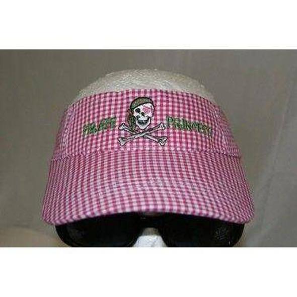Gingham Pirate Princess Pink Visor