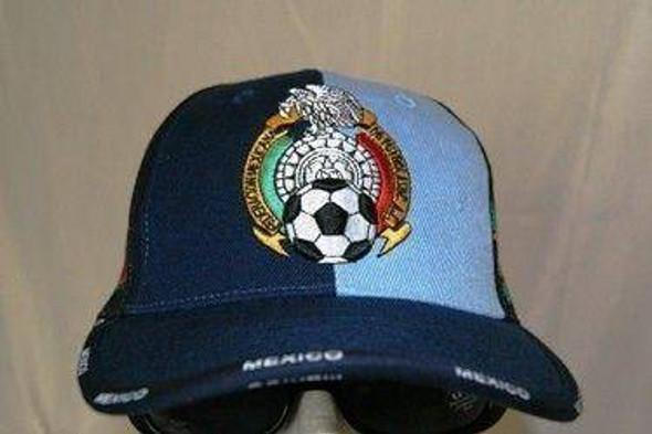Dark Blue Mexico Soccer Cap