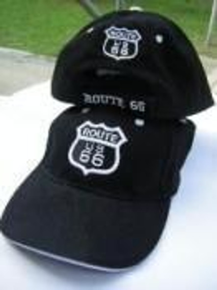 Black and White Route 66 Cap