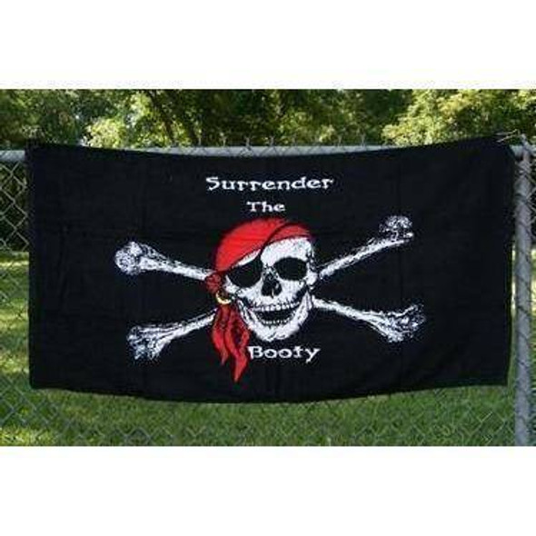 Pirate Surrender the Booty Beach Towel