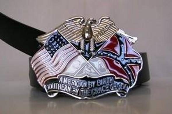 American By Birth Belt Buckle