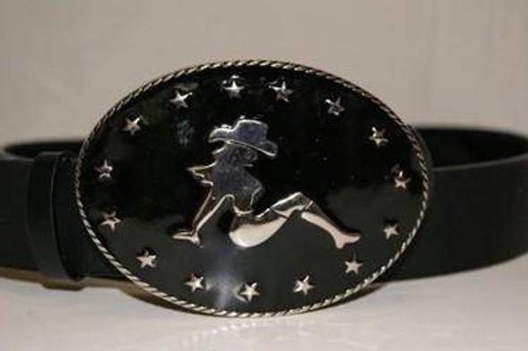 Cowboy Girl Belt Buckle