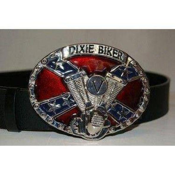 Dixie Biker Belt Buckle