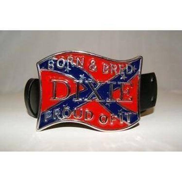 Dixie Born Bred Belt Buckle