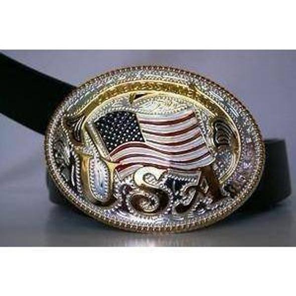 God Bless America Belt Buckle