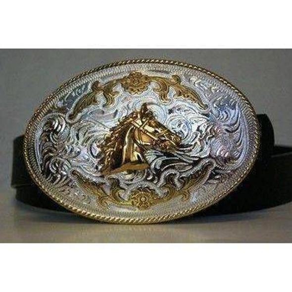 Gold Horse Belt Buckle