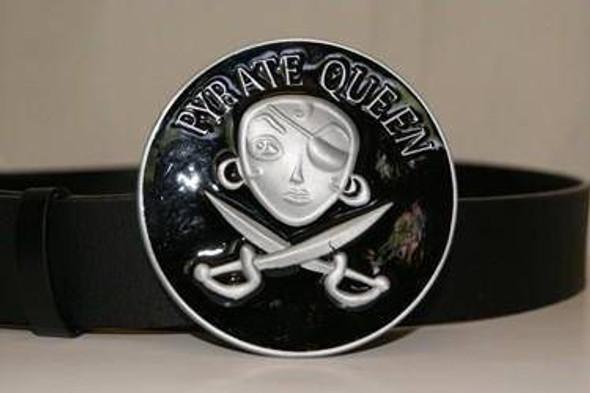 Black Pirate Queen Belt Buckle