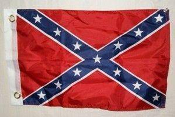 Rebel Flag - Confederate Battle Flag - 12 x 18 inch - with grommets Flag - double sided