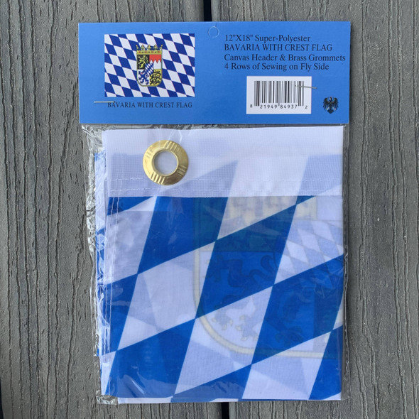 Bavaria with Crest Flag 12 x 18 inch with grommets