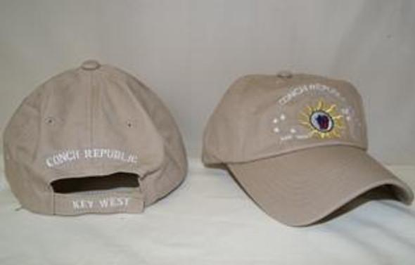 Conch Republic - Key West -  Khaki Hat Cap