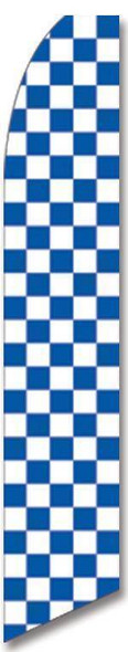 Blue and White Checkered Advertising Flag (Flag Only)