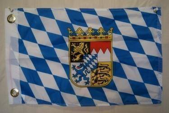 Bavaria with Crest Flag 12 x 18 inch with grommets-1