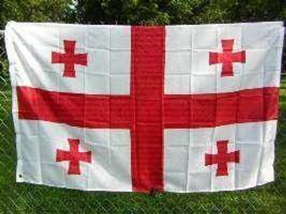 Georgia Country (NEW) Republic of Georgia Flag 3x5 ft. Economical