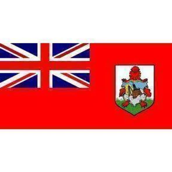 Bermuda Flag 12 x18 inch on stick