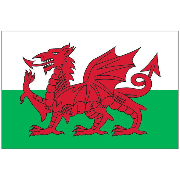 Wales Flag 12x18 inch on stick