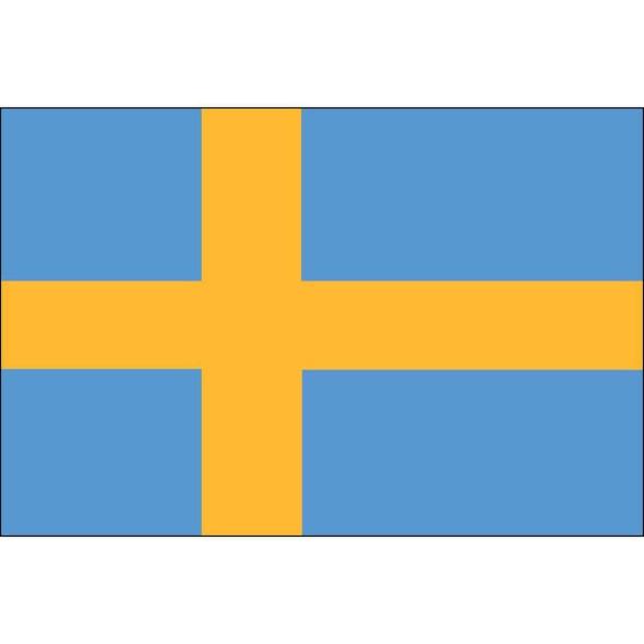 Sweden Flag 12 X 18 inch on stick
