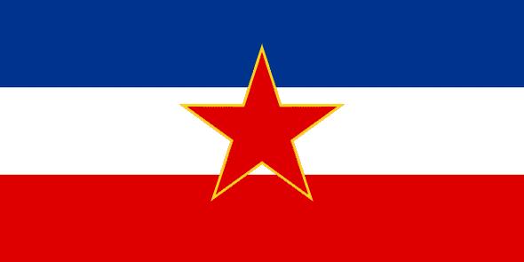 Old Yugoslavia Flag 1945 3 X 5 ft. Standard