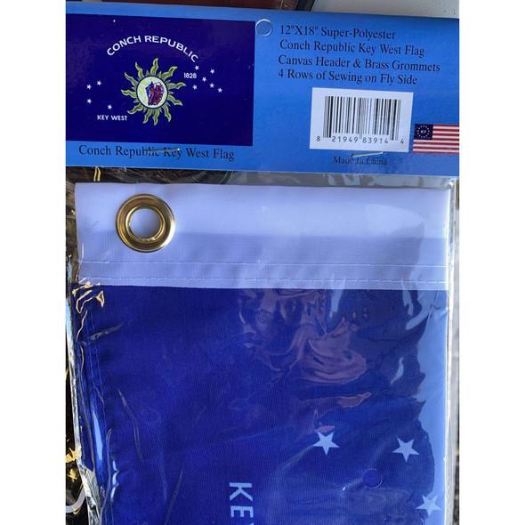 Conch Republic Flag - Key West Flag - 12x18 inch - grommets