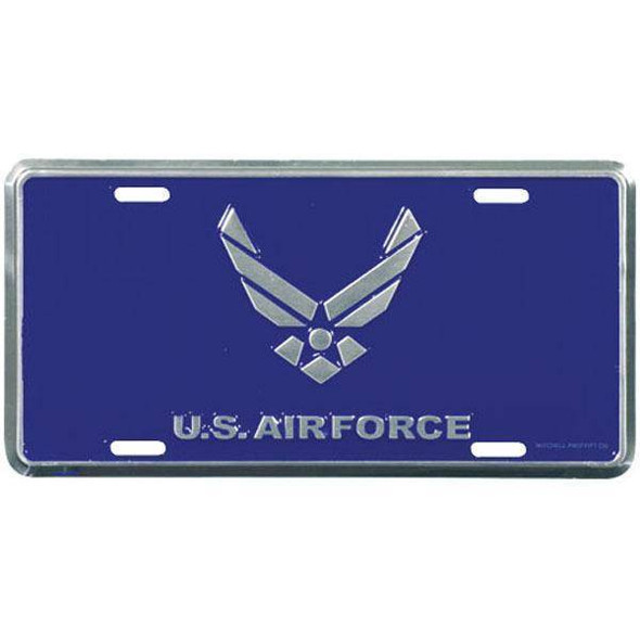 Blue Air Force Logo License Plate Auto Tag