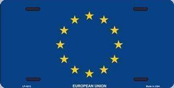 European Union License Plate
