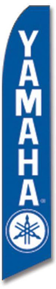 Blue Yamaha Advertising Swooper Flag (Flag Only)