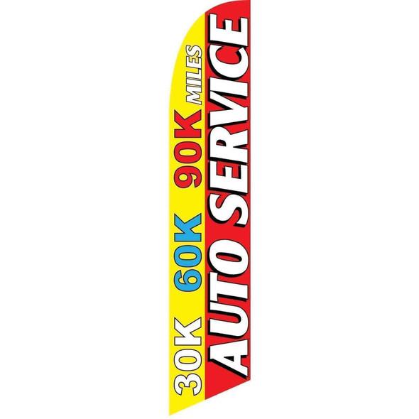 30K 60K 90K Auto Service Advertising Banner (banner only)
