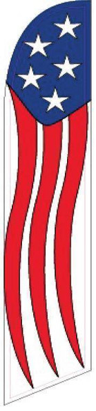 American Stars and Stripes Advertising Banner (banner only)