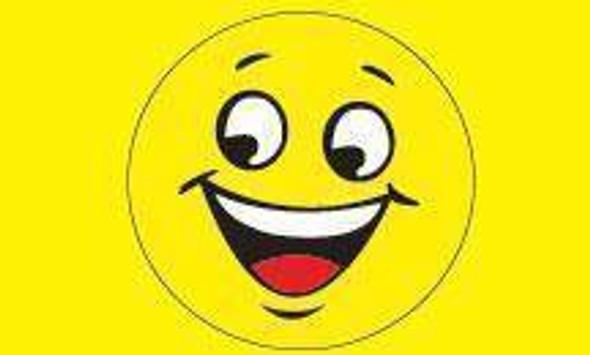 Smile Slogan (Yellow) Flag 3 X 5 ft. Advertising