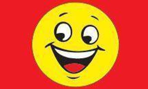Smile Slogan (Red) Flag 3 X 5 ft. Standard