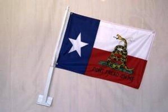 Texas Don't Tread On Me Double Sided Car Flag