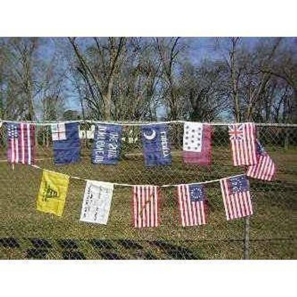 American Revolution 12 x 18 inch String Flag