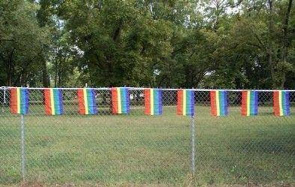 Rainbow 12 x 18 inch String Flags