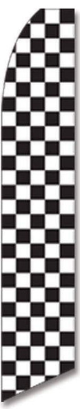 Black and White Checkered Advertising Flag (Complete set)