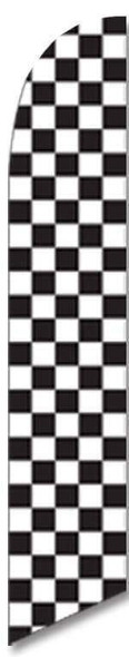 Black and White Checkered Advertising Banner (Complete set)