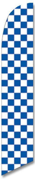 Blue and White Checkered Advertising Banner (Complete set)