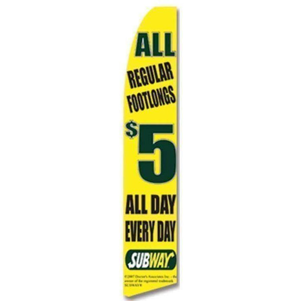 5$ All Footlong Subway Advertising Banner (Complete set)
