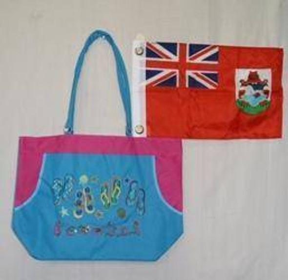 Blue Bermuda Beach Bag